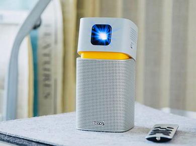 明基投影机:明基便携智能投影机GV1灵巧上市 给你多彩有氧生活
