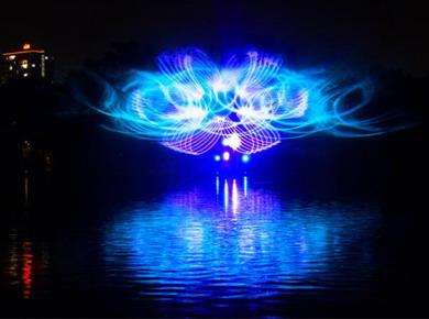 科视Christie HS 系列激光投影机为越南大坝森水上公园新光影秀呈现壮观的水幕投影