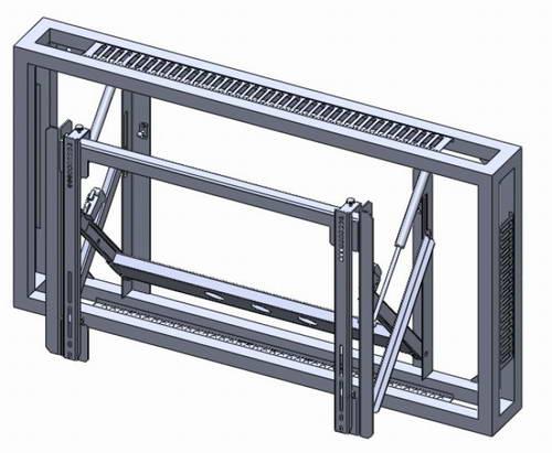 液晶拼接屏前维护支架